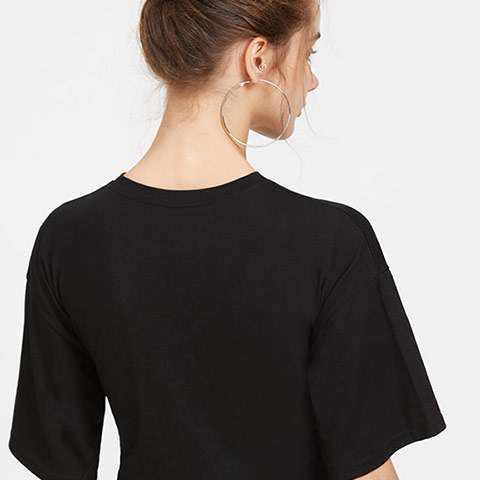 Casual Blouse With Lacing